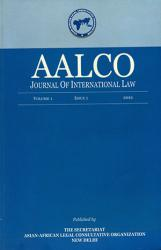 AALCO Journal issue 1  2012